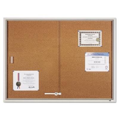QRTD2401 - Quartet Enclosed Bulletin Board