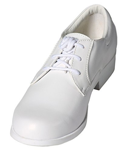 Boys White Lace Up Round Toe Dress Shoes - Wedding - First Communion -