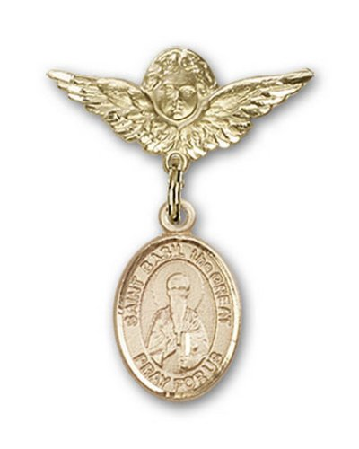 Icecarats Or Bijoux De Créateurs Rempli R. Basile Le Pin Badge Grand Ange Charme 1 X 3/4