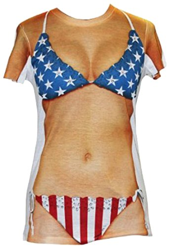 Patriotic Bikini T-shirt (XX-Large)
