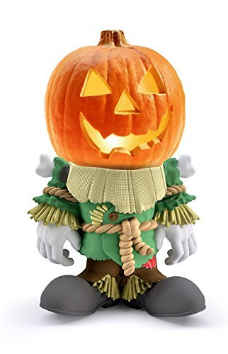 Indoor/Outdoor Halloween Decorations Scarecrow Pumpkin Statue For Backyard, Lawn or Garden - Iconic, Hand Painted, Weatherproof, Creepy, Scary - Made Of Resin by 3B (Amazing Halloween Pumpkin Designs)
