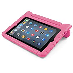 BUDDIBOX iPad Mini Case,  [EVA Series] Shock Resistant [Kids Safe][STAND Feature] Carrying Case for Apple Mini iPad 1 / 2 / 3 / 4 and Retina, (Pink)