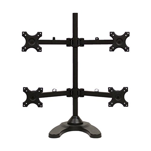- NavePoint Quad LCD Monitor Desk Stand/Mount Free Standing Adjustable 4 Screens upto 24-Inches Black