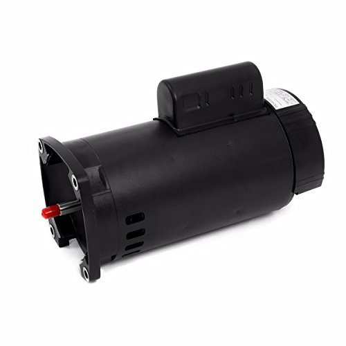 onestops8 1.5hp Square Flange Replacement Swimming Pool Pump Motor Frame 56y Dual Voltage (Stainless Pacfab Steel)