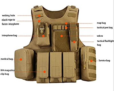 outdoor plus Amphibious Module Tactical Vest Airsoft Tactical Vest Suitable for Paintball Secret Service Operations and Military Fans 1000D Nylon