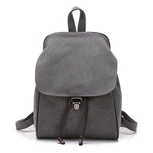 FOLLOWUS - Bolso mochila  de Lona para mujer gris