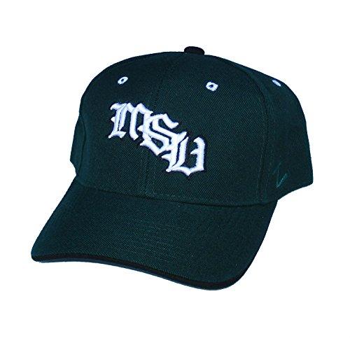 カエルピットグレートオークMichigan State Spartans MSU Fittedサイズ7 1 / 8 NCAA本物グリーン帽子キャップ