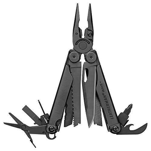 LEATHERMAN - Wave Plus Multitool with Premium Replaceable Wire Cutters, Spring-Action Scissors and Nylon Sheath, Built in the USA, Black