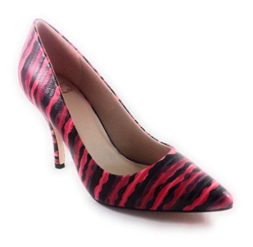 Kalinlotus Couleur: Noir Et Rouge, Chaussures En Cuir Décolleté