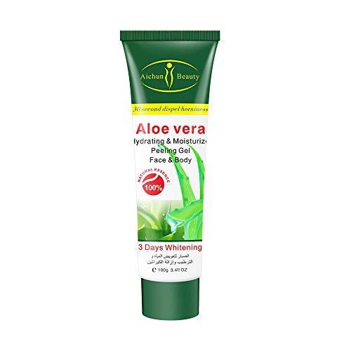 Aichun Beauty Milk Exfoliating Dead Skin Facial Purify Body Cleaning Peeling Gel Cream 100g (ALOE VERA)