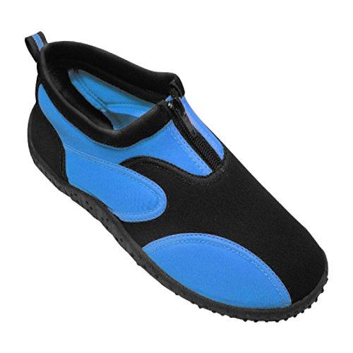 Calzado De Agua De Caucho Aqua Fire Footwear Para Mujer Negro / Azul
