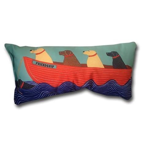 Nautical Decor Throw Pillows Beach House Outdoor Pillows Dog Friends  17u0026quot; ...