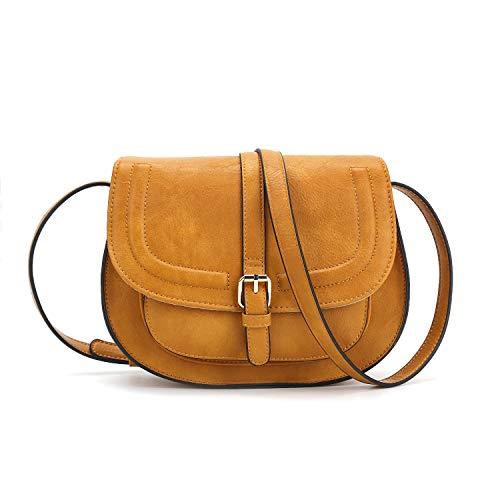 (Women Crossbody Satchel Bag Small Saddle Purse and Tote Shoulder Handbags)