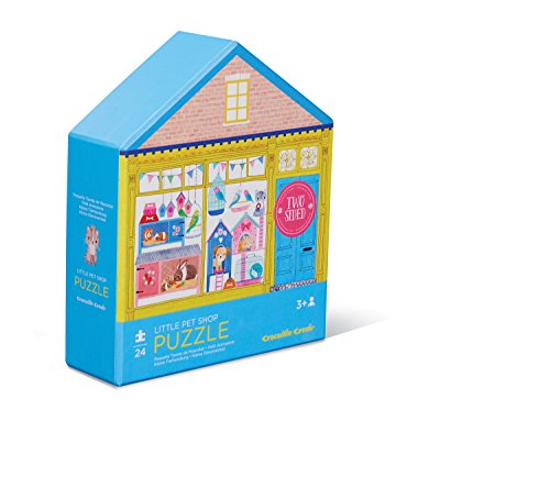 Crocodile Creek 4150-2 Two-Sided Little Pet Shop Puzzle (24 Piece), Blue/Yellow/Pink ()