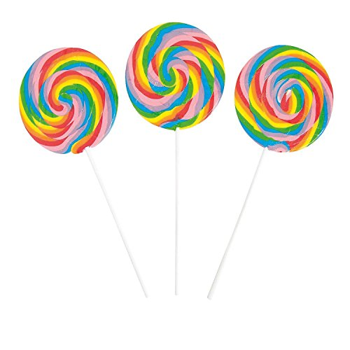 Bargain World Jumbo Swirl Pops (With Sticky Notes) - 4' Lollipop Sticks