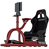 Trak Racer RS8-05-R Racing Driving Simulator Cockpit Video Gaming Chair with Gear Shifter Mount RED