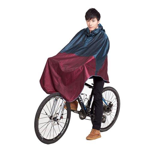 JFS Men's Women's Fashion Hooded Bicycle Raincoat Poncho ...