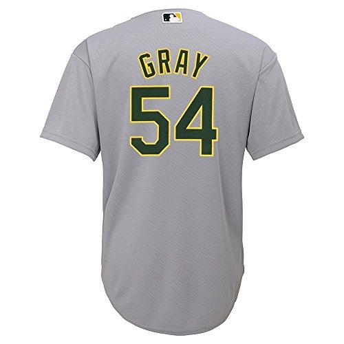 Outerstuff Sonny Gray Oakland Athletics MLB Majestic Grey Road Cool Base Jersey Boys