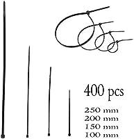 JZK® 100 x nylon negro conjunto de bridas de cables plastico ...
