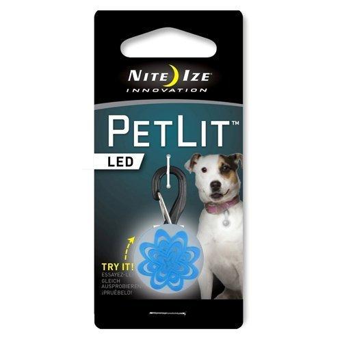 (Digpets NI-PCL02-03-03PS Petlit Led Collar Light, White Led - Blue Burst by digPets)