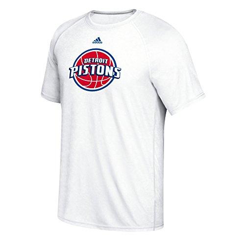NBA Detroit Pistons Men's Phrase Hat Hook Climalite Ultimate Tee, Medium, (Adidas Detroit Pistons T-shirt)