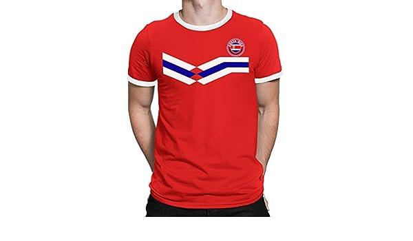 Tee Spirit Costa Rica Camiseta Para Hombre World Cup 2018 Fútbol New Style Retro: Amazon.es: Ropa y accesorios