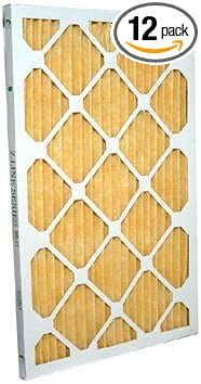 20x25x1 Merv 11 Furnace Filter by Glasfloss Industries 12 Pack