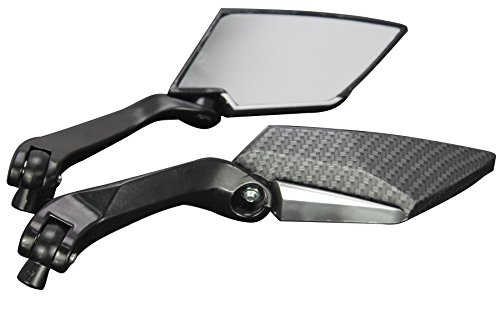 BLACK CARBON MOTORCYCLE CRUISER CUSTOM REARVIEW MINI MIRRORS FOR 2011 Honda Fury VT1300CX