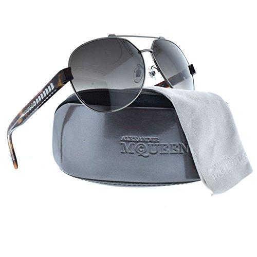 Alexander McQueen Aviator Sunglasses in Ruthenium Havana AMQ 4264/FS P6K - Alexander Mcqueen Aviators