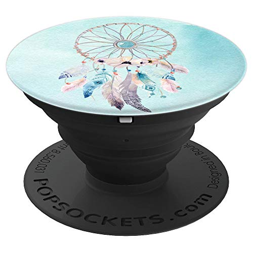 Boho Dream Catcher Watercolor Floral Feather Dreamcatcher - PopSockets Grip and Stand for Phones and Tablets