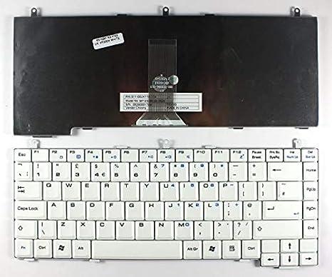 Nerd Herd LG K1 MP-03086GB-3593 S11-00UK110-C54 Blanco Inglés Teclado para Ordenador Portátil (PC) de Repuesto: Amazon.es: Electrónica