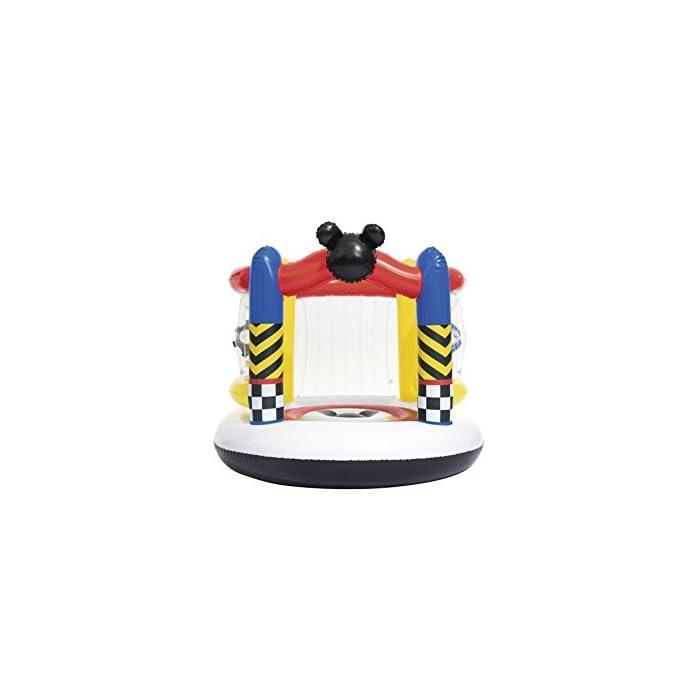 41n%2BiwdkQnL Está fabricada con vinilo resistente probado con paredes hinchables para mayor seguridad de los niños Incluye aros hinchables para que los más pequeños jueguen a encestar Tiene válvulas de seguridad para un inflado y desinflado fácil