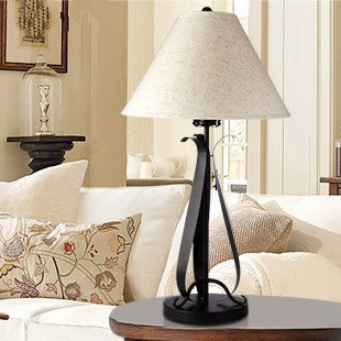 European minimalist table lamp wrought iron lamp bedside lamp bedroom lamp