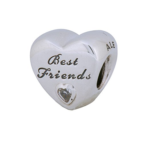 Pandora Friendship Heart Charm in 925 Sterling Silver,791727CZ