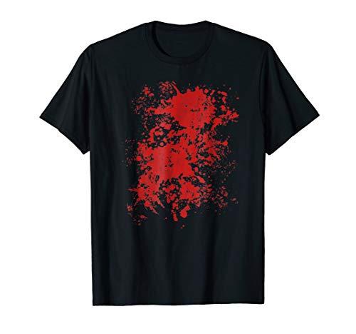 Fake Blood Splatter Bloody T-Shirt Halloween Costume -