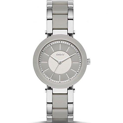 DKNY Reloj analógico para mujer Quartz Piel gris ny2462: Amazon.es: Relojes