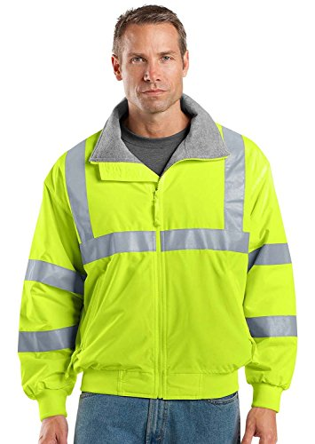 Port Authority - Safety Challenger Jacket with Reflective Taping. SRJ754 - Safety Yellow/ Reflective_4XL