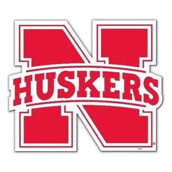 Red, NCAA Nebraska Cornhuskers 12 Vinyl Magnet