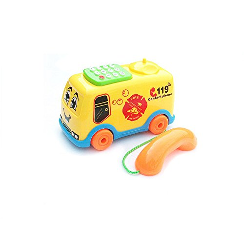 Elaco 2017 Baby Toys Music Cartoon Bus Phone Educational Developmental Kids Toy Gift (H)