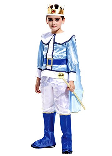 Kalanman Children Boys Halloween Dress Up & Role Play Costume Medieval Prince King Warrior Outfit (XL(Fit for 10-12 Age), Prince 35) ()