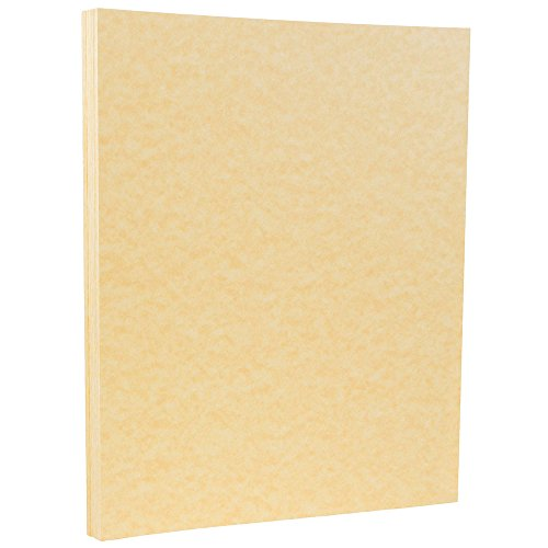 JAM PAPER Parchment 65lb Cardstock - 8.5 x 11 Coverstock - Antique Gold Recycled - 50 Sheets/Pack ()