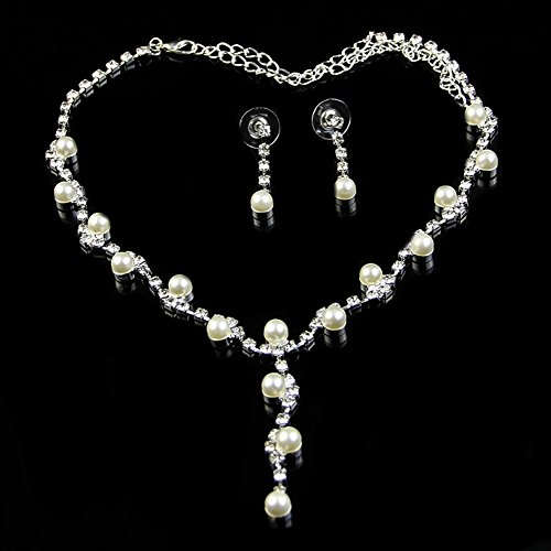 HeroNeo® Hot Prom Wedding Bridal Party Crystal Rhinestone Necklace Earring Jewelry Sets (03#)