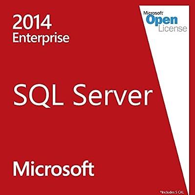 Microsoft SQL Server 2014 Enterprise Full Version | Retail | with 5 CAL