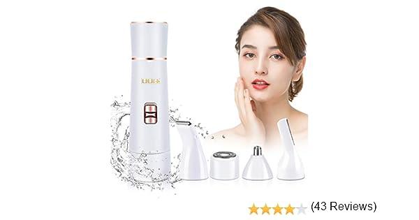Afeitadora Facial para Mujer, UUQ 4 en 1 Depiladora Femenina ...