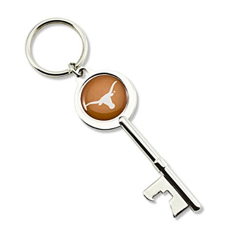 Ring Key Longhorns Texas Ncaa (aminco NCAA Texas Longhorns Skeleton Key Bottle Opener Key Ring)