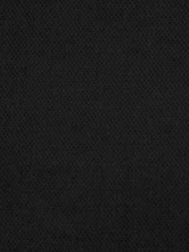 - Onyx Black Solid Texture Plain Fr one Nfpa 701 Fr Wovens Chenille Upholstery Fabric by the yard