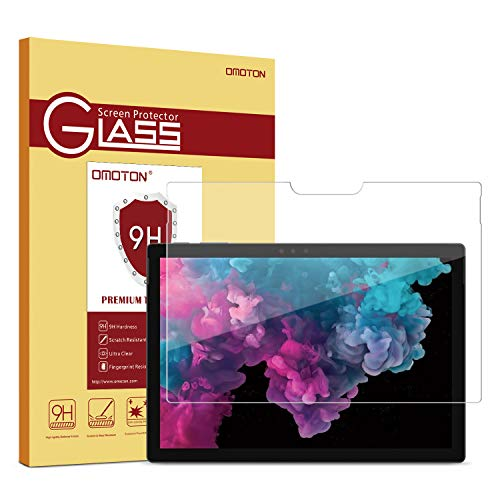OMOTON Screen Protector Compatible with Surface Pro 6 / Surface Pro (5th Gen) / Surface Pro 4 - [Tempered Glass] [High Responsivity] [Scratch Resistant] [High Definition] (Best Surface Pro Accessories)