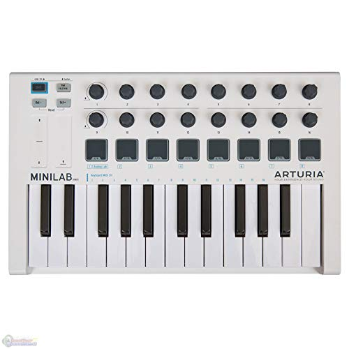 Arturia MINILAB mkII universal MIDI Controller with 1 Year Free Extended Warranty by Arturia