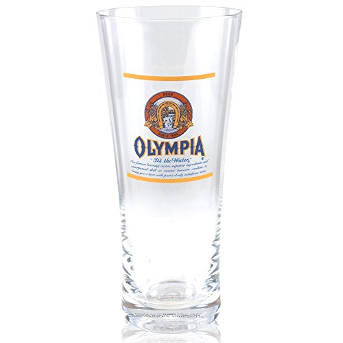 Flared Glass Beer Pilsner - Olympia Beer Flared Pilsner Glass Officially Licensed, Set of 4