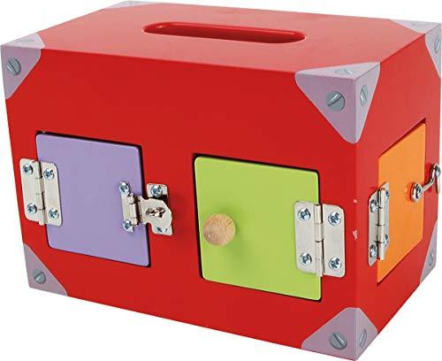 41n%2BmN jk7L Una caja con muchas ventanas y puertas de colores. Todos están equipados con diferentes cierres. Aquí se necesita atención y resistencia.